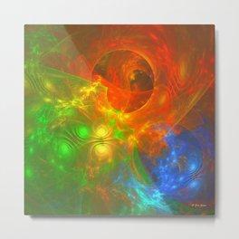 Swirling Colors Metal Print