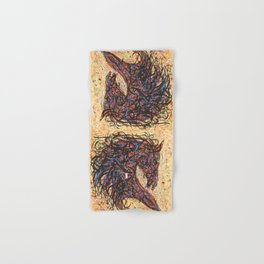 Abstract Horse Digital Ink Pollock Style Hand & Bath Towel