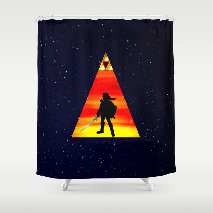 LEGEND OF ZELDA TRIANGLE Shower Curtain
