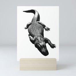 Alligators Love to Swim Mini Art Print