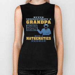 Mathematics Degree Grandpa Biker Tank