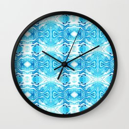 Opposing Hearts Turquoise Wall Clock