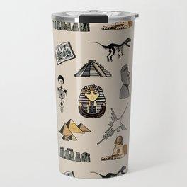Dark Archeo pattern Travel Mug