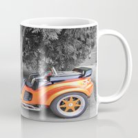 motorbike Mugs featuring Three-wheeled Motorbike by Lynn Bolt