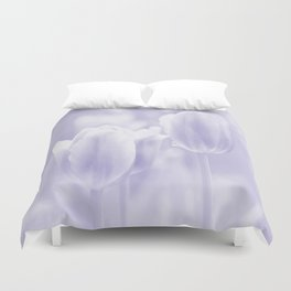 Day dream in shades of violet - spring atmosphere Duvet Cover