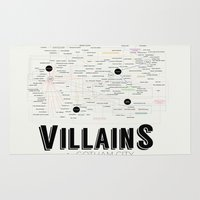 gotham Area & Throw Rugs featuring Villains of Gotham by Jessica Buie