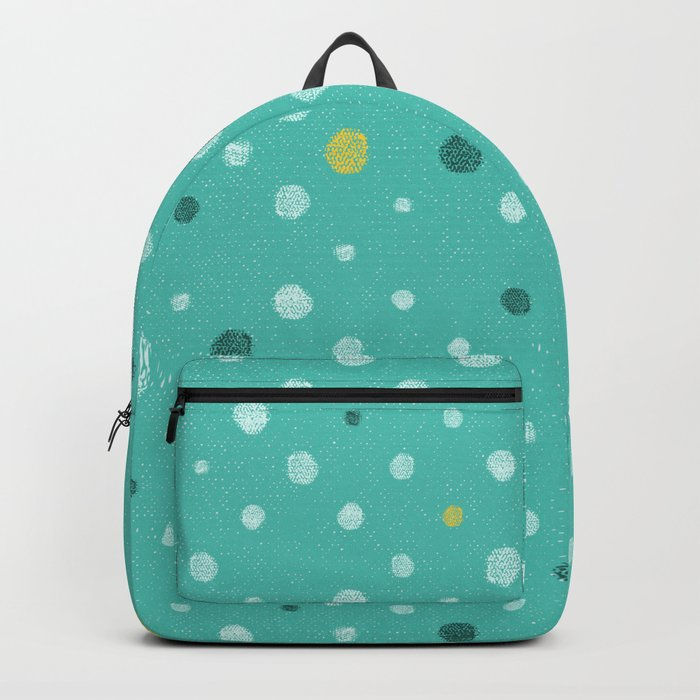LOTS OF DOTS / Marrs Green (World's favorite color*) Backpack