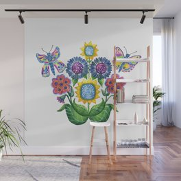 Butterfly Playground Wall Mural