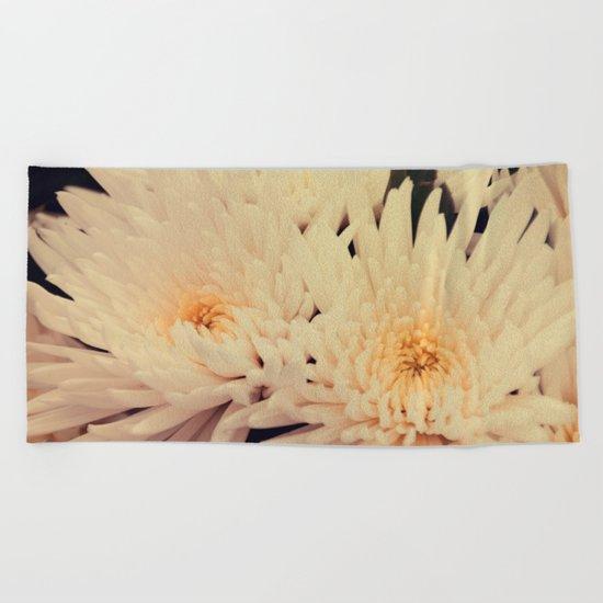 Gorgeous white dahlia Beach Towel