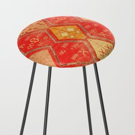 N254 - Oriental Heritage Antique Traditional Tropical Color Moroccan Style Counter Stool