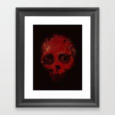 Red Encounter Framed Art Print