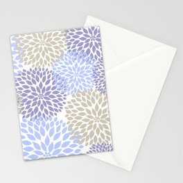 Periwinkle Floral Bouquet Stationery Cards