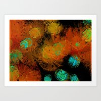 fireworks Art Prints featuring Fireworks by Imagology