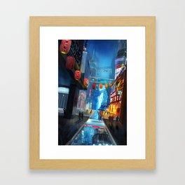 Sci-fi City Framed Art Print