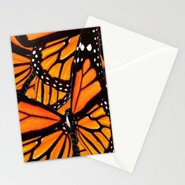 MONARCH BUTTERFLIES WING COLLAGE PATTERN 2 Stationery Cards