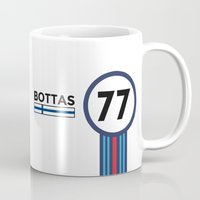 f1 Mugs featuring F1 2015 - #77 Bottas by MS80 Design