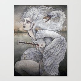 the swan maiden Canvas Print