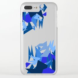 Fractal Destruction Clear iPhone Case