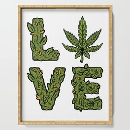 Love Weed Serving Tray