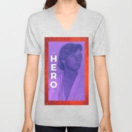 """""""Hero"""" - Star Wars Luke Skywalker Art Unisex V-Neck"""