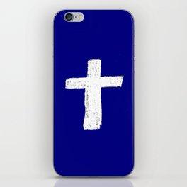 Christian Cross Chalk version iPhone Skin