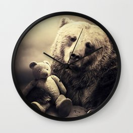 bear and teddy Wall Clock