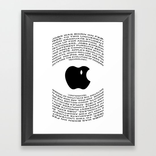 A Tribute To Steve Jobs Framed Art Print