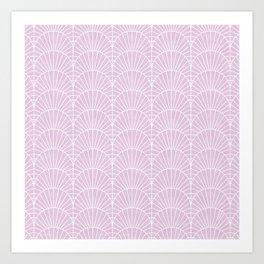 Art Deco Lavender Fields by Friztin Art Print