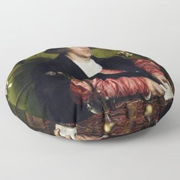 """Hans Holbein the Younger """"Portrait of the Merchant Georg Gisze"""" Floor Pillow"""