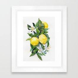 lemon tee Framed Art Print
