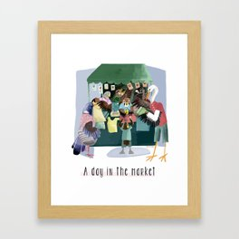 A day in the market Framed Art Print