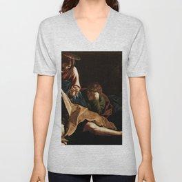 Michelangelo Merisi da Caravaggio - Christ on the Mount of Olives Unisex V-Neck