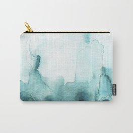 Soft teal abstract watercolor Carry-All Pouch
