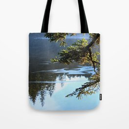 Ice Refelctions Photography Print Tote Bag