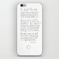 poem iPhone & iPod Skins featuring Nature Poem by alyssajeandreamer
