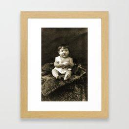 Yesteryear Baby Framed Art Print