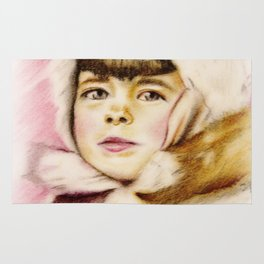 Pastel Drawing of Janie Rug