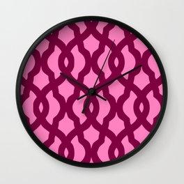 Grille No. 2 -- Magenta Wall Clock