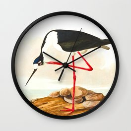 Long-legged Avocet Wall Clock