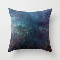 aqua Throw Pillows featuring aqua by Vita♥G