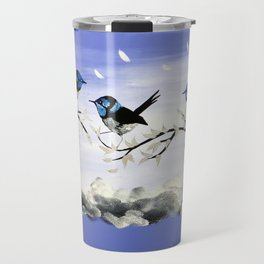 Purple Art with Gray Travel Mug