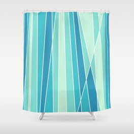 Retro Lines Shower Curtain