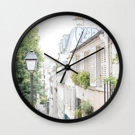 Charming Montmartre Paris Wall Clock