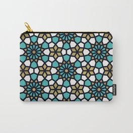 Persian Mosaic – Turquoise & Gold Palette Carry-All Pouch