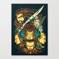 the hobbit Canvas Prints featuring The Hobbit by anggatantama