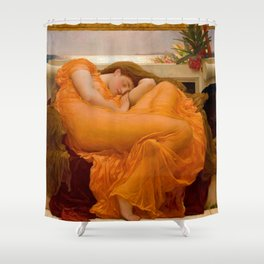 """Frederic Leighton """"Flaming June"""" Shower Curtain"""