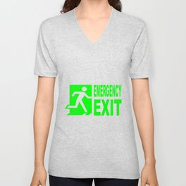 Emergency Exit Unisex V-Neck