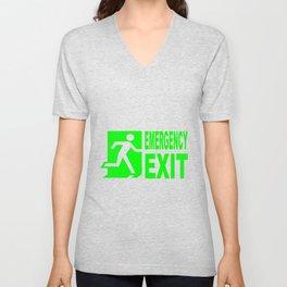 Emergency Exit Unisex V-Neck