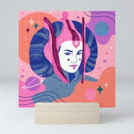 """Queen Padme Amidala"" by Jenny Chang-Rodriquez Mini Art Print"