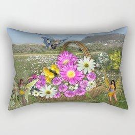Spring basket gatherers Rectangular Pillow
